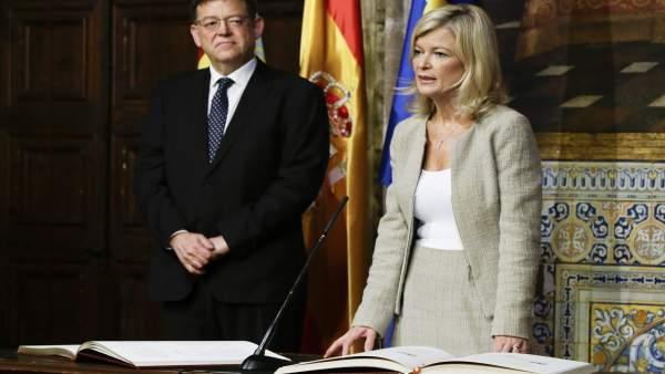 La consellera Gabriela Bravo, en la toma de posesión