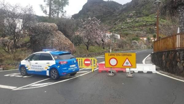 Cierre de carreteras a la cumbre de Gran Canaria