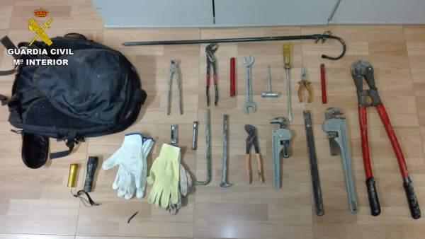 Herramientas usadas para el robo