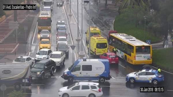 Accidente de tráfico en Las Palmas de Gran Canaria