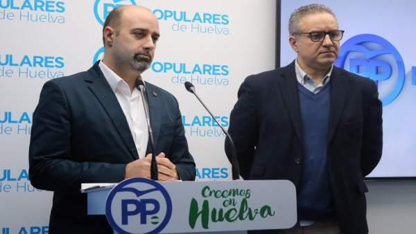 José Antonio Faraco, junto a Manuel Ángel Fernández.