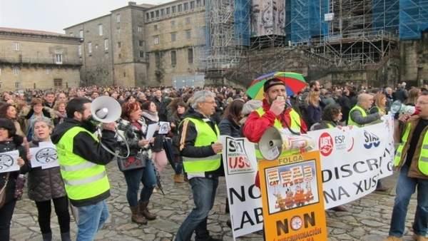 Protesta de los empleados públicos del sector de la justicia