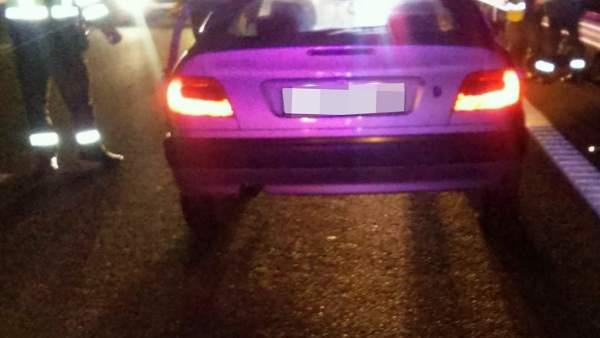Imagen del coche interceptado por la Guardia Civil