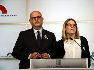 Elsa Artadi y Eduard Pujol, de JxCat.