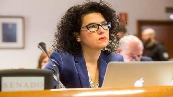 La senadora de UP, Maribel Mora