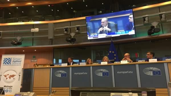 Presentación startup europa smart agrifood summit málaga junio fycma bruselas