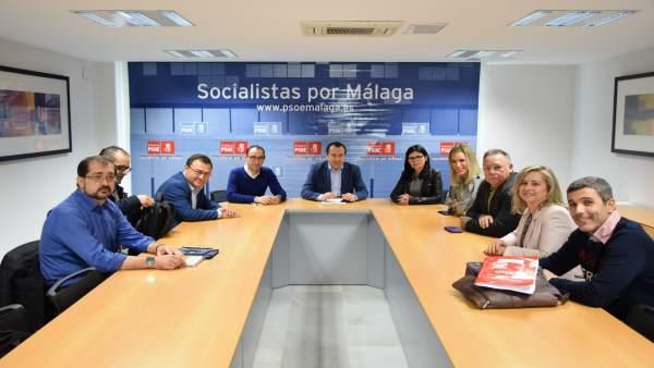 Reunión PSOE m álaga con representantes acaip y ugt prisiones cárcel ruiz espejo