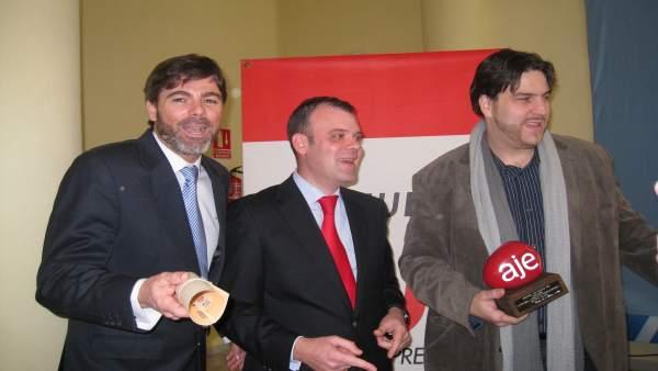 Ganadores de los premios AJE en Huelva.