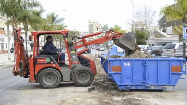 Obras avenida Carlota Alessandri