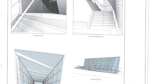 Planos del nuevo acceso de la estación de Durango