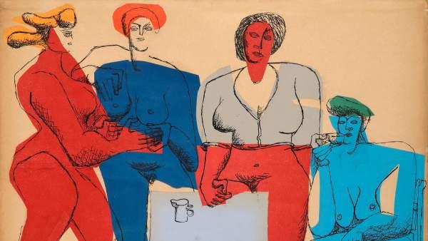 'Quatre Femmes', 1950. Le Corbusier