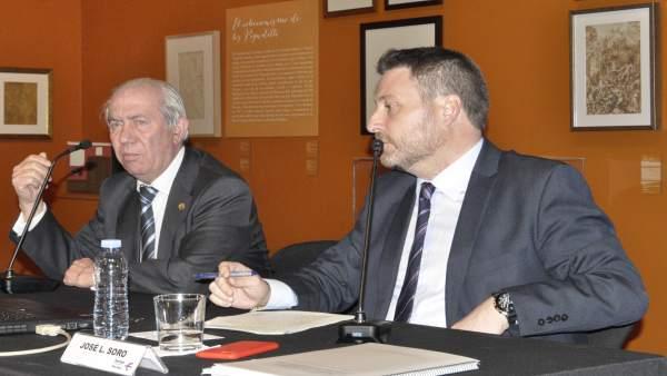 José Luis Soro ha presentado la Directriz de Despoblación en Ibercaja.