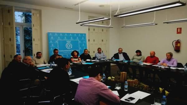 Imagen de la reunión de la Comunidad de Regantes