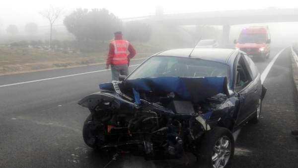Accidente de tráfico en la A-68 en Tudela.