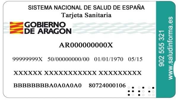 Tarteja sanitaria de Aragón