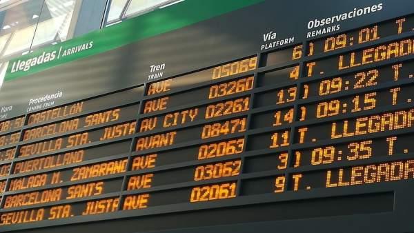 Compromís denuncia un nuevo retrasod el AVE Castellón-Madrid