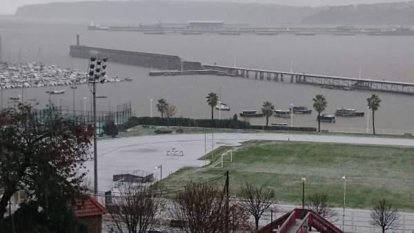 Nieve en Portugalete
