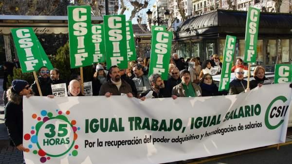 Manifestación empleados públicos