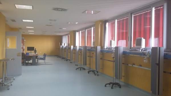 Nueva área quirórgica del hospital Infanta Elena de Huelva.
