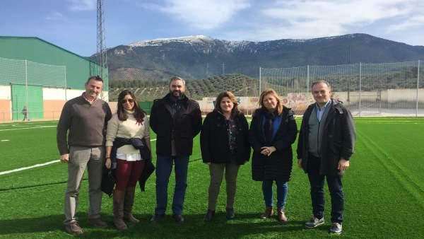 Visita al campo de fútbol de Cortijos Nuevos.