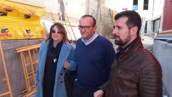 Teresa López, Adolfo López y Luis Tudanca