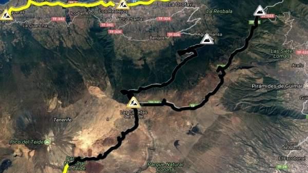 Carreteras de acceso al Teide