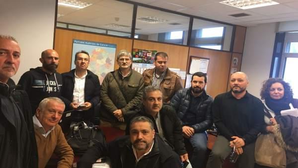 El comité de huelga de Xustiza se encierra en la Dirección Xeral