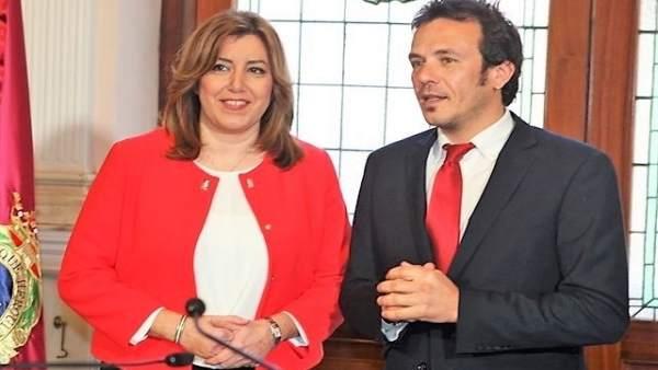 Susana Díaz con el alcalde de Cádiz
