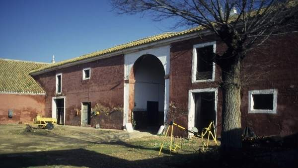 Un patio de la hacienda Ibarburu