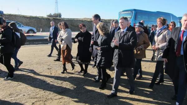 Segovia: El Ministro En La Visita A La SG-20