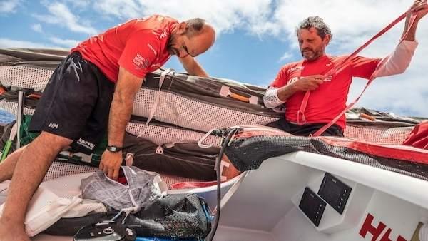 Xabi Fernández y Joan Vila MAPFRE Volvo Ocean Race