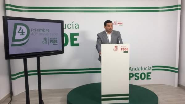 Ezequiel Ruiz, en rueda de prensa.