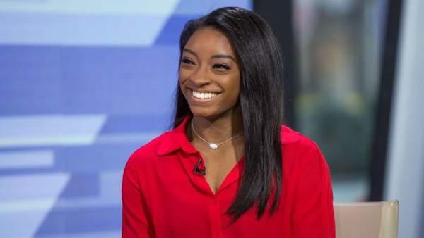 Simone Biles en una entrevista para la NBC.