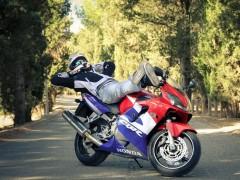 Majes en moto con su CBR 600