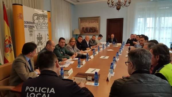 Junta de Seguridad sobre la Vuelta Ciclista a Andalucía.