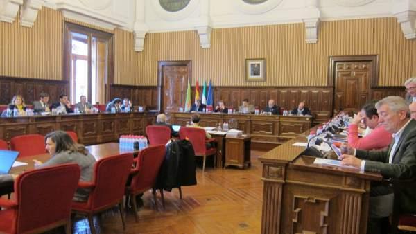Pleno ordinario de la Diputación de Jaén.