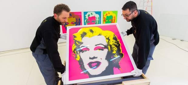 Las obras de Andy Warhol ya están en Madrid