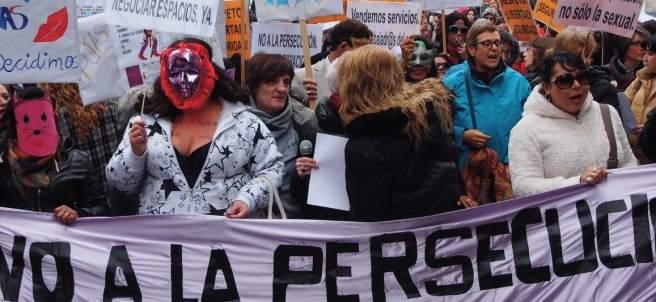 Una manifestación de prostitutas en Madrid