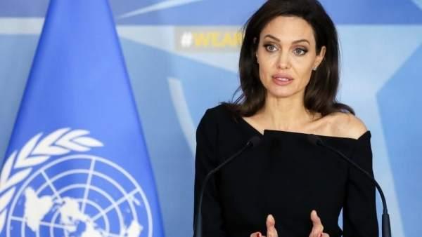 Angelina Jolie, en la sede de la OTAN en Bruselas