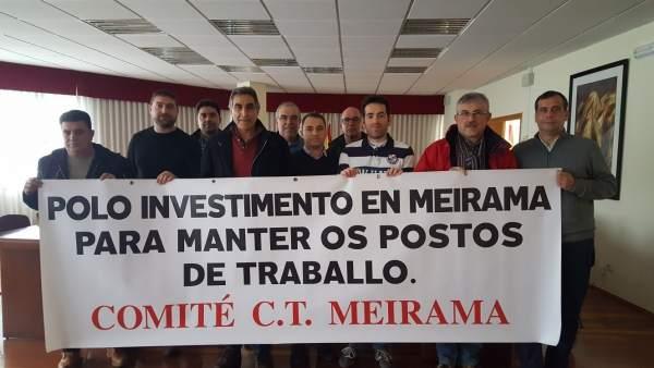 Encierro en Cerceda para exigir garantías para Meirama