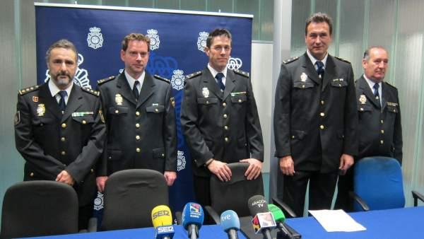 José Ángel González, Miguel Abad, Pedro Bernardo, Carlos Salicio y Ramón Granero
