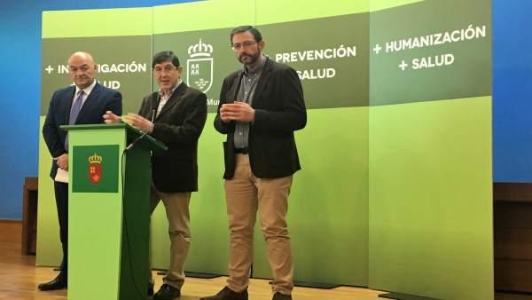 El consejero Manuel Villegas en rueda de prensa
