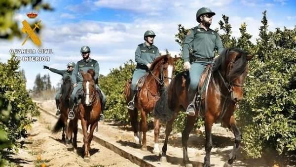 Escuadra de Caballería de la Guardia Civil de Salamanca.
