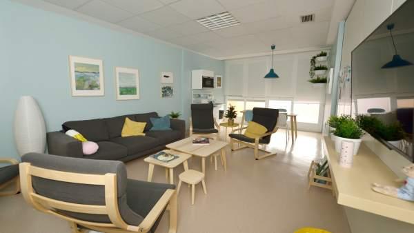 Sala de espera de Cuidados Intensivos de Pediatría