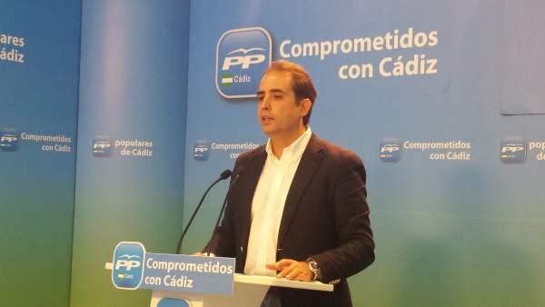 Antonio Saldaña, secretario general del PP en Cádiz