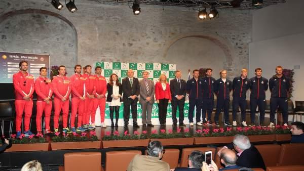 Marbella copa davis tenis equipos España y Gran Bretaña sorteo muñoz