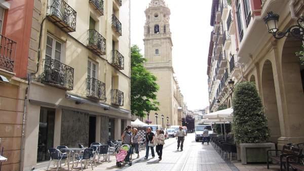Calle Portales de Logroño