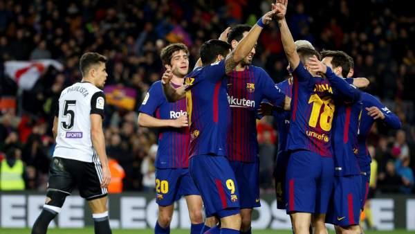 Gol del Barça al Valencia