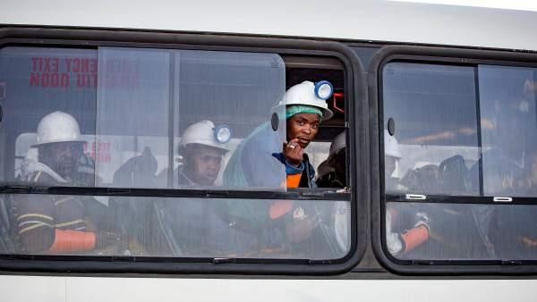 Mineros rescatados