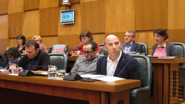 El consejero municipal Pablo Muñoz ha intervenido en el Pleno.